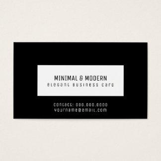 Cartão De Visitas preto elegante mínimo & moderno