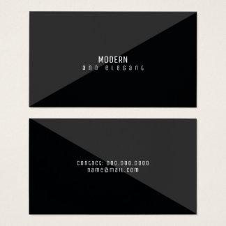Cartão De Visitas preto mínimo moderno e elegante