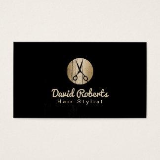 Cartão De Visitas Preto moderno do cabeleireiro & cabeleireiro do