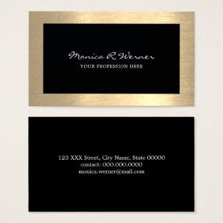 Cartão De Visitas preto profissional moderno elegante