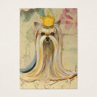 Cartão De Visitas Princesa de Yorkie na coroa