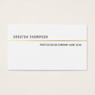 Cartão De Visitas pro branco e limpo clássico elegante minimalista