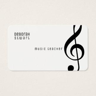 Cartão De Visitas professor de música