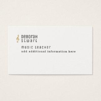 Cartão De Visitas professor de música minimalista