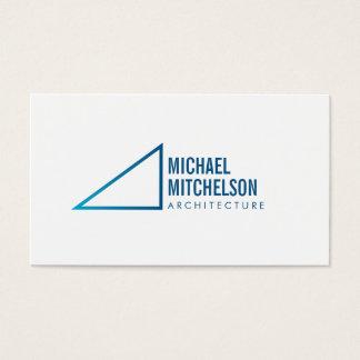 Cartão De Visitas Profissional arquitectónico do ângulo direito