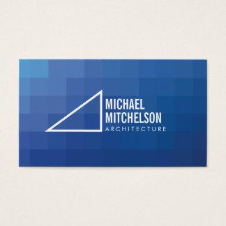 Cartão De Visitas Profissional azul/branco do ângulo direito