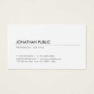 Cartão De Visitas Profissional branco elegante do design de