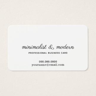 Cartão De Visitas profissional branco minimalista, elegante e