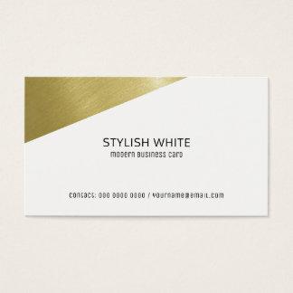 Cartão De Visitas profissional branco moderno à moda