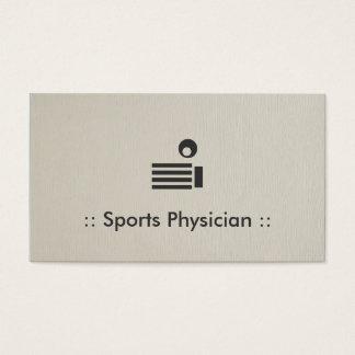 Cartão De Visitas Profissional chique do médico dos esportes