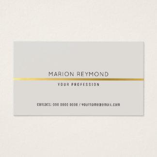 Cartão De Visitas profissional cinzento pálido elegante simples
