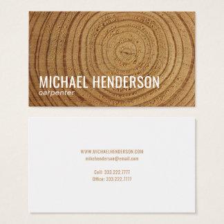 Cartão De Visitas Profissional de madeira rústico moderno da