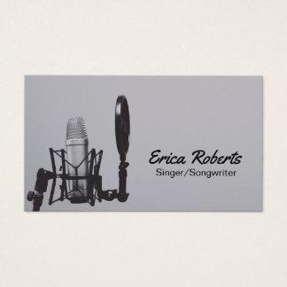 Cartão De Visitas Profissional do vocalista do compositor do cantor