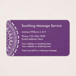 Cartão De Visitas Profissional elegante da massagem