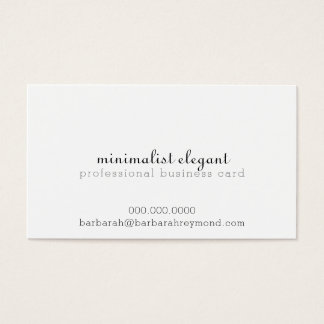 Cartão De Visitas profissional elegante minimalista branco
