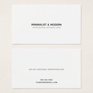 Cartão De Visitas profissional minimalista & moderno elegante