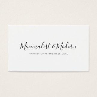 Cartão De Visitas Profissional moderno minimalista da escrita
