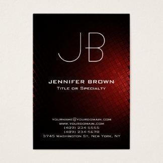 Cartão De Visitas Profissional preto vermelho moderno carnudo do
