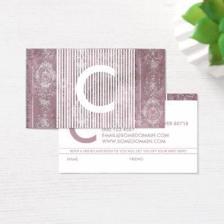 Cartão De Visitas programa chique da referência do monograma