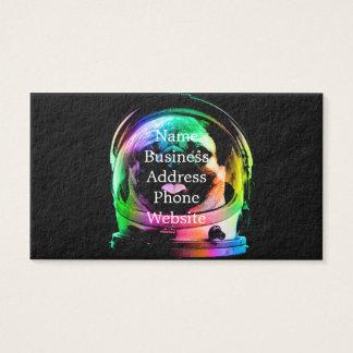 Cartão De Visitas Pug do astronauta - pug da galáxia - espaço do pug