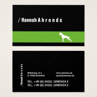 Cartão De Visitas Pugilista alemão verde