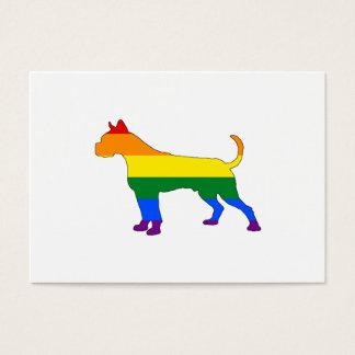 Cartão De Visitas Pugilista do arco-íris
