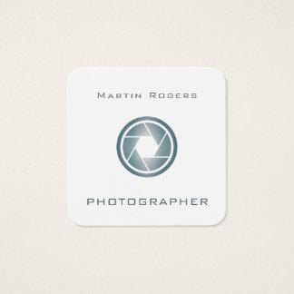 Cartão De Visitas Quadrado Cobrir artístico da objectiva da foto