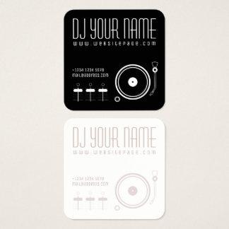 Cartão De Visitas Quadrado Cobrir musical ajustado do modelo do DJ