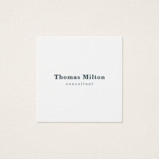 Cartão De Visitas Quadrado Consultante azul branco elegante simples