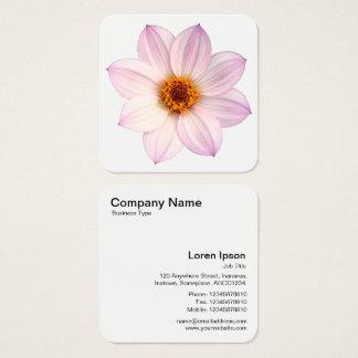 Cartão De Visitas Quadrado Dália cor-de-rosa