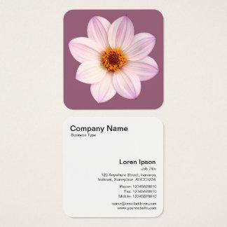 Cartão De Visitas Quadrado Dália cor-de-rosa em #945E76