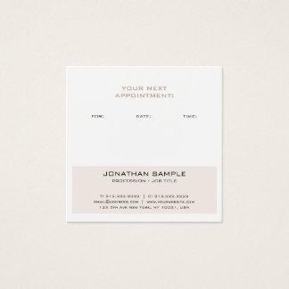 Cartão De Visitas Quadrado Design moderno elegante do lembrete da nomeação na