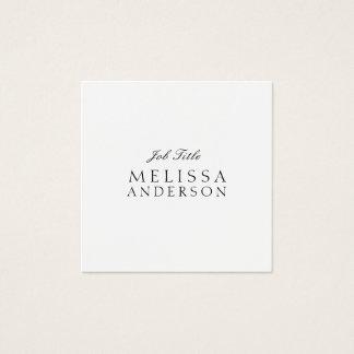 Cartão De Visitas Quadrado Minimalistisch elegante moderno profissional