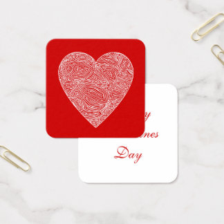 Cartão De Visitas Quadrado Namorados