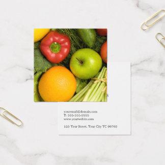 Cartão De Visitas Quadrado Nutricionista colorido elegante simples dos