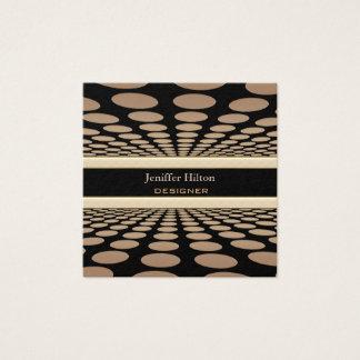 Cartão De Visitas Quadrado O abstrato elegante profissional do contemporâneo