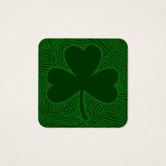 Cartão De Visitas Quadrado O dia de St Patrick do trevo