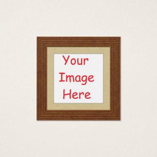 Cartão De Visitas Quadrado Personalizado personalizado adicione sua imagem a