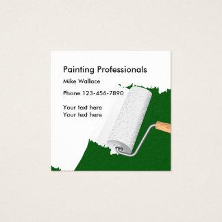 Cartão De Visitas Quadrado Pintor de casa nova
