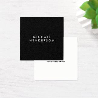 Cartão De Visitas Quadrado Preto elegante profissional minimalista