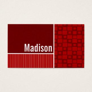 Cartão De Visitas Quadrados retros vermelhos