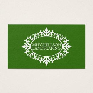 Cartão De Visitas Quadro floral verde