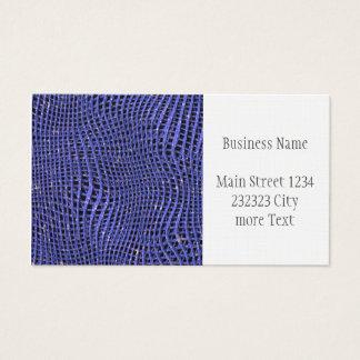 Cartão De Visitas Rede Sparkling do metal, azul