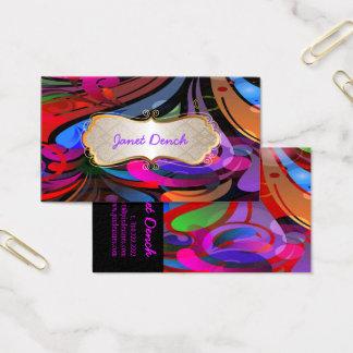 Cartão De Visitas Redemoinhos retros de PixDezines