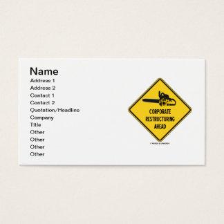 Cartão De Visitas Reestruturação incorporada adiante (sinal de
