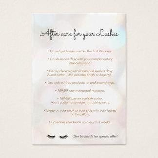 Cartão De Visitas Referência Bokeh das instruções dos cuidados