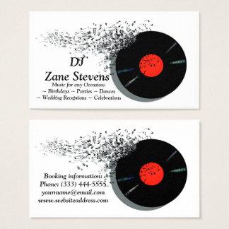 Cartão De Visitas Registro de vinil do disco-jóquei do DJ do