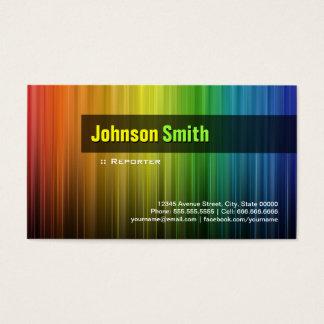 Cartão De Visitas Repórter - cores à moda do arco-íris