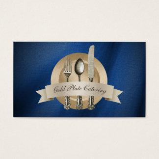 Cartão De Visitas Restauração da placa de ouro do cozinheiro chefe &