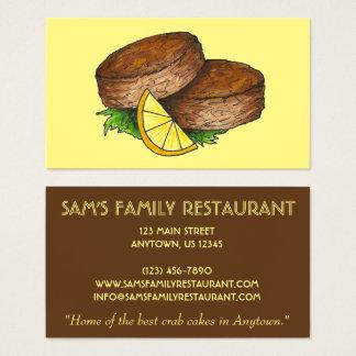 Cartão De Visitas Restaurante da comida do cozinheiro chefe do